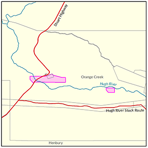 Orange Creek locality map