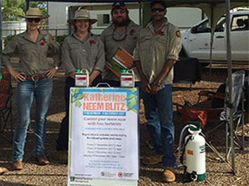 Katherine Supports Neem Blitz Program