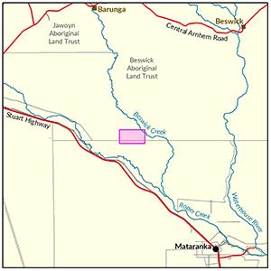 Beswick locality map