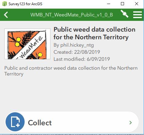 NT WeedMate App screen shot