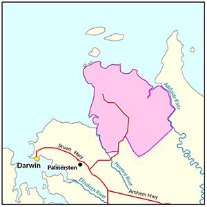Gunn Point locality map