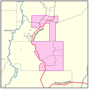 Wildman River locality map
