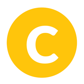A yellow icon with the capital letter C in the centre.
